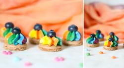 Regenbogenmacarons
