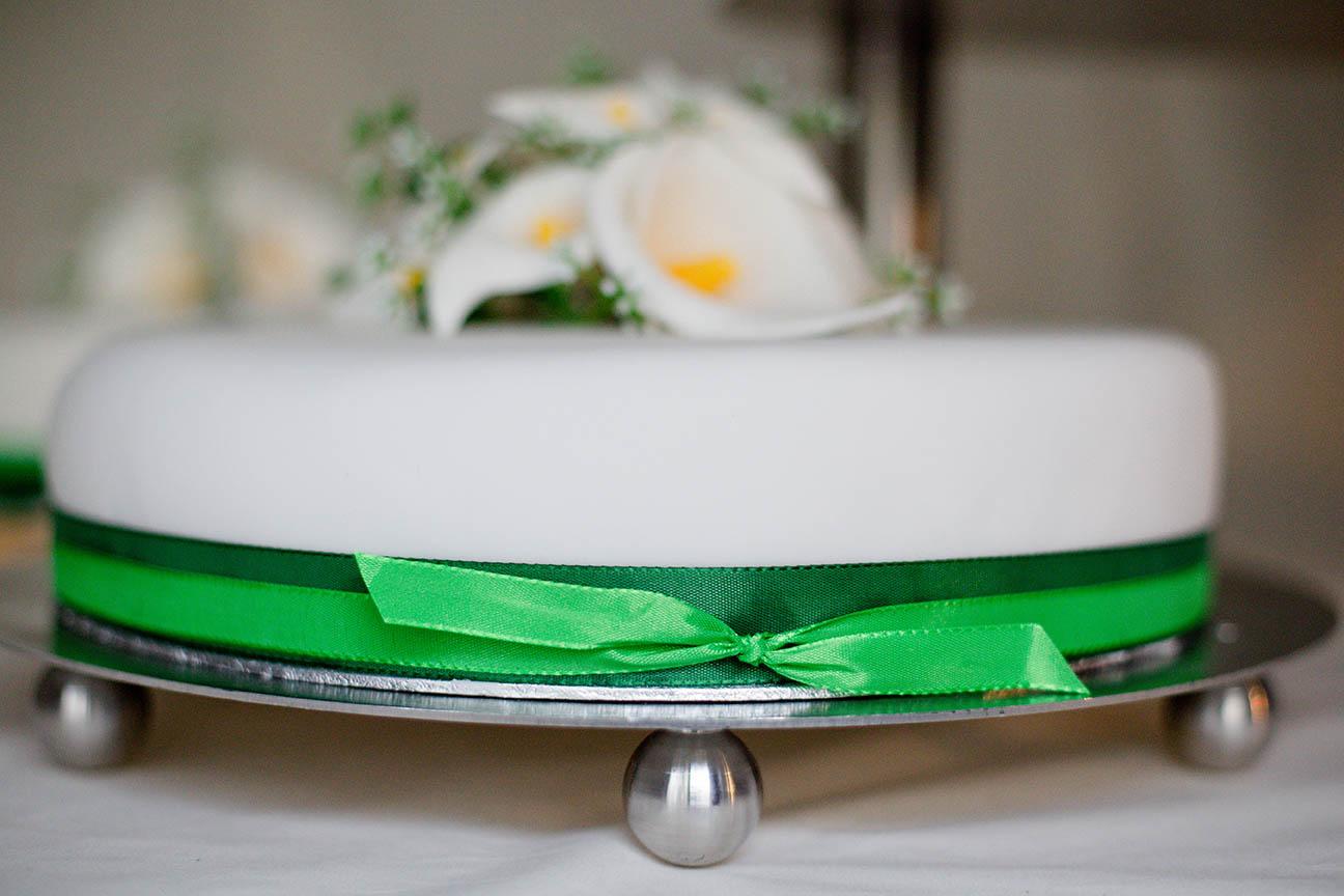Hochzeitstorte weiß/grün