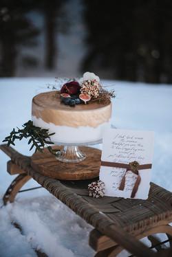 Hochzeitstorte edel mit Feigen