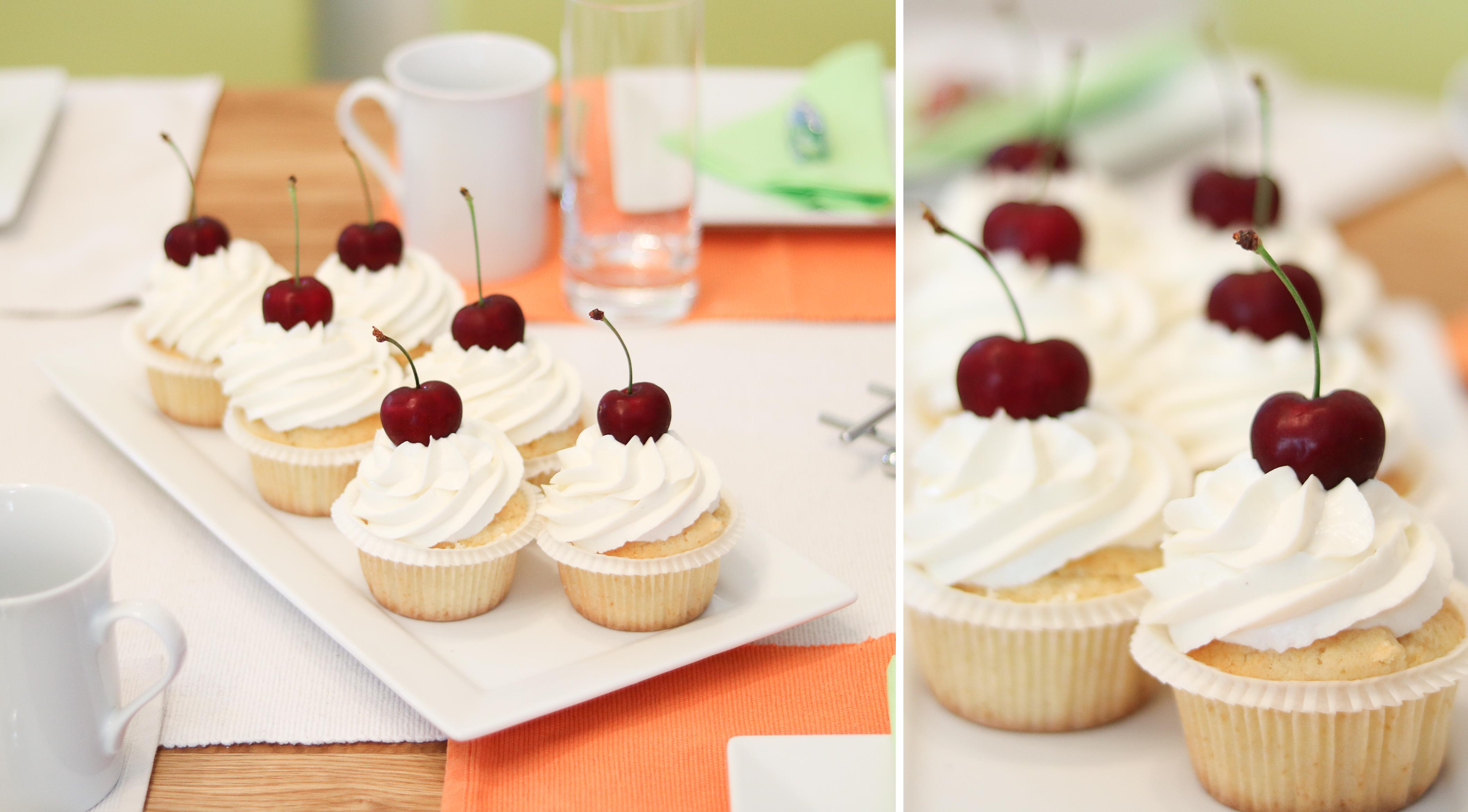 vanille krisch cupcakes