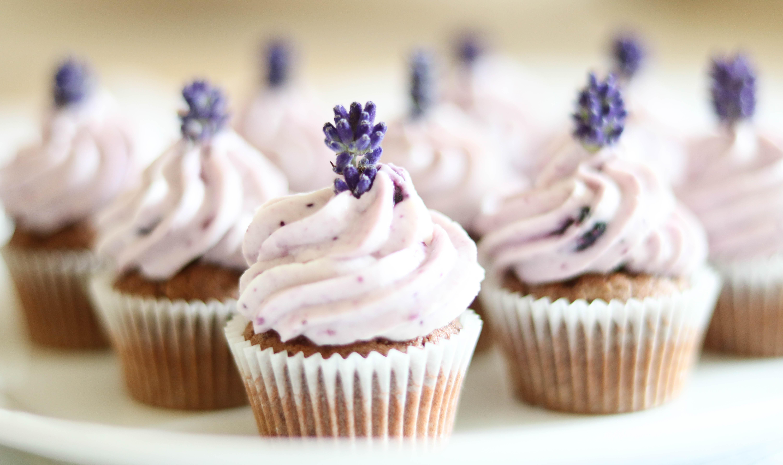 Minicupcakes mit Lavendel