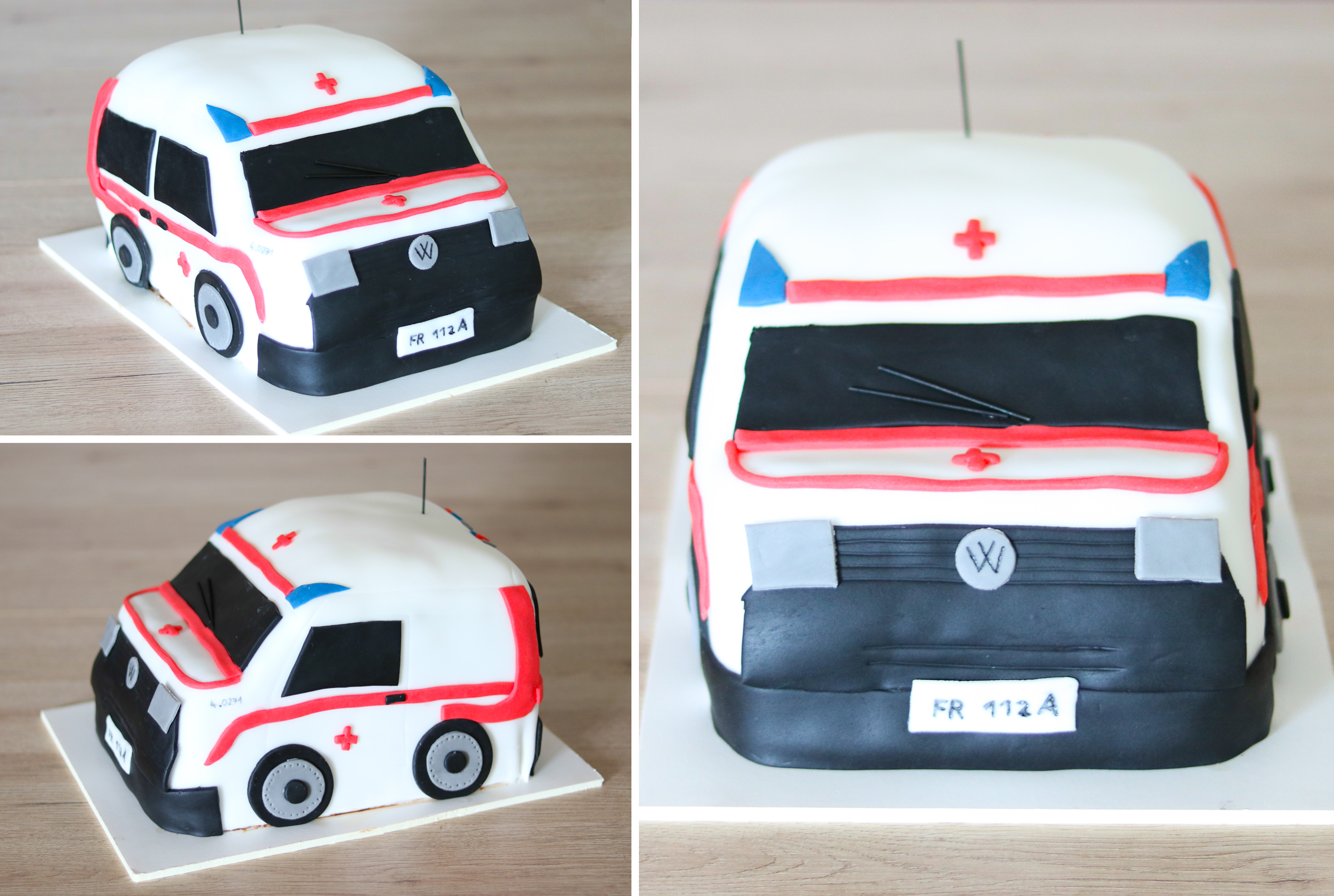 Rettungsauto-Torte