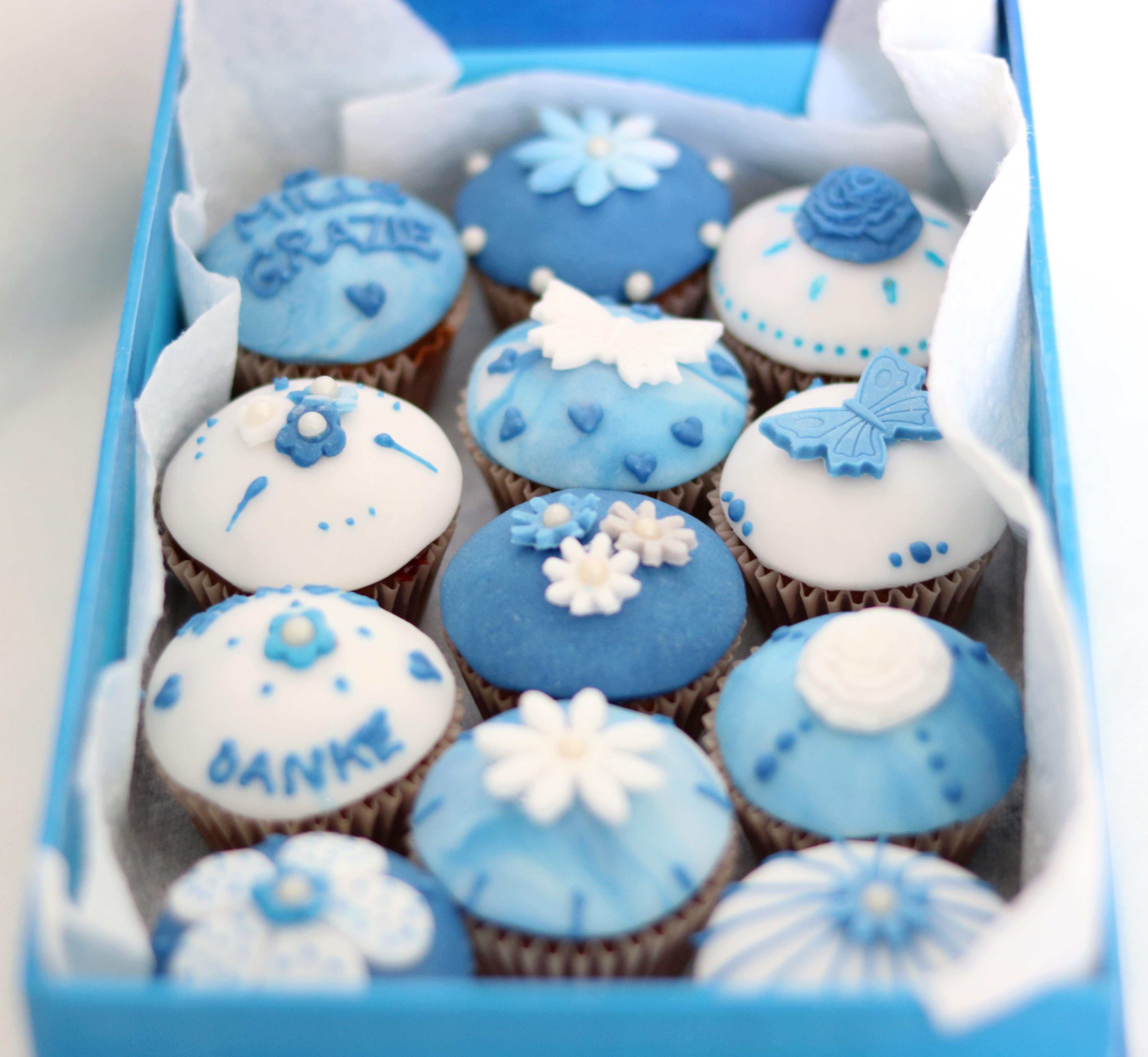 Minicupcakes blau