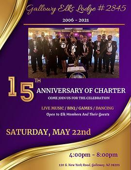 15th Charter Anniversary - Galloway Elks