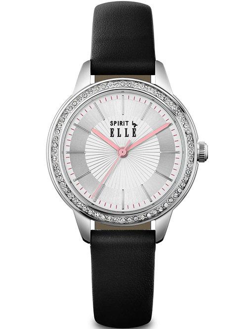 ELLE white sunray dial black strap ES20137S05X