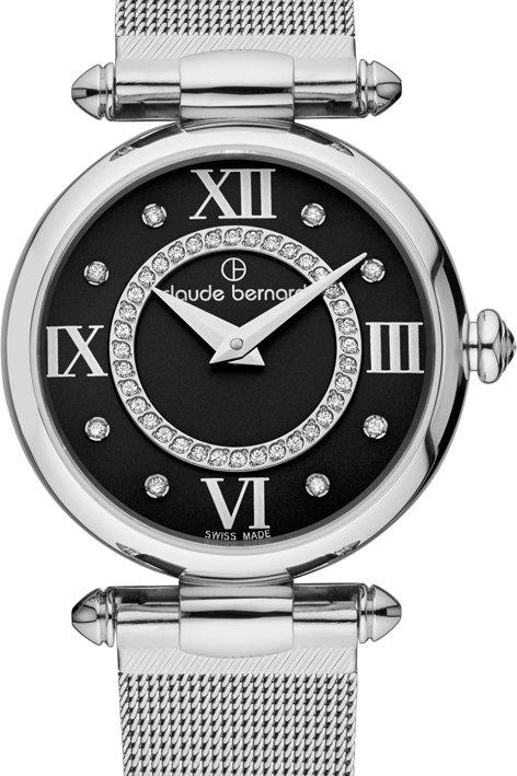 Claude Bernard Dress Code Black|Silver|Silver CB20500-3-NPN1