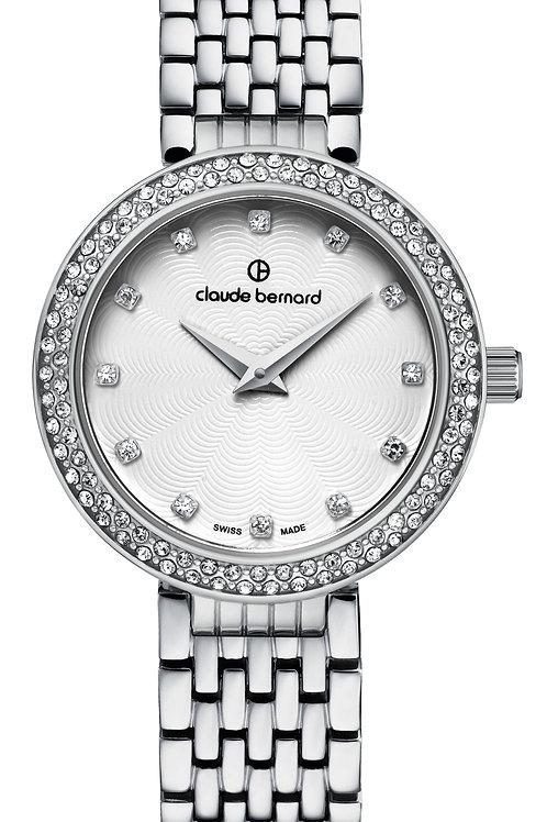 Claude Bernard Dress Code White|Silver|Silver CB20204-3-B