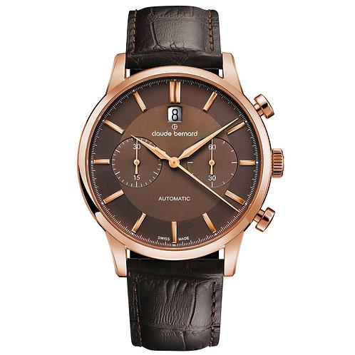 Claude Bernard Classic Chronograph Automatic Brown|Pink|Black  CB08001-37R-BRIR