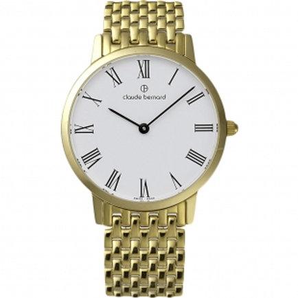 Claude Bernard Classic White|Gold|Gold/Silver CB20201-37JM-BR