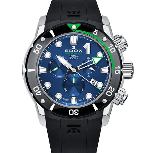 EDOX Sharkman III Limited Edition ED10241TIVBUIN front view