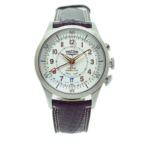 Vulcain Aviator Elapse-Time VU110110.062LF front view