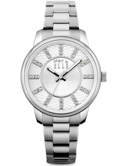 Elle Stainless steel bracelet with crystal index ES20094B05X front view