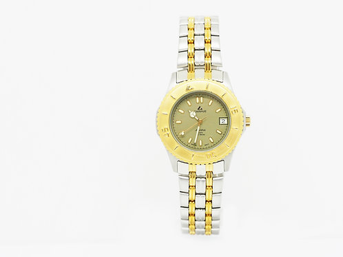 CAMPUS Sports Classic with date green/gold/bi-colour CA5937STG-Y front view