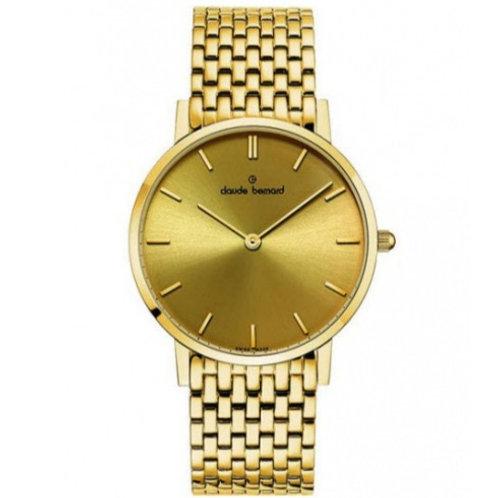 Claude Bernard Classic Gold|Gold|Gold CB20201-37JM-DI front view