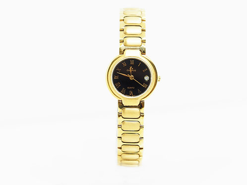 CAMPUS Classic Roman with date black/gold CA5702P-BKCRRA front view