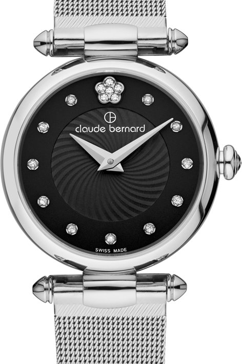 Claude Bernard Dress Code Black|Silver|Silver CB20500-3-NPN2