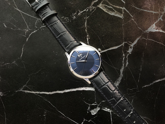 Claude Bernard Big Date with blue dial