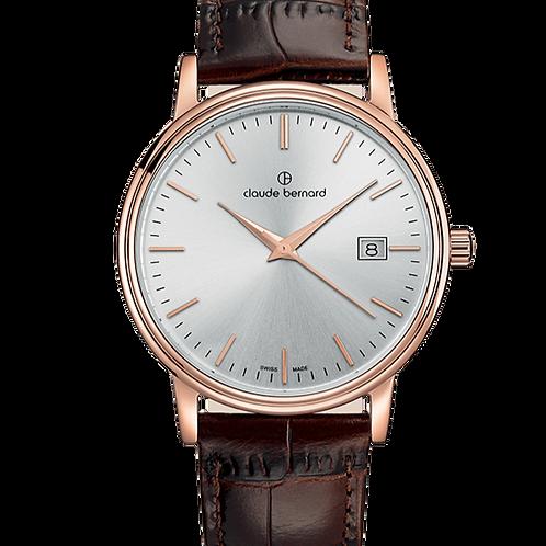 Claude Bernard Classic Gents/Ladies Silver|Pink|Brown CB53007-37R-AIR