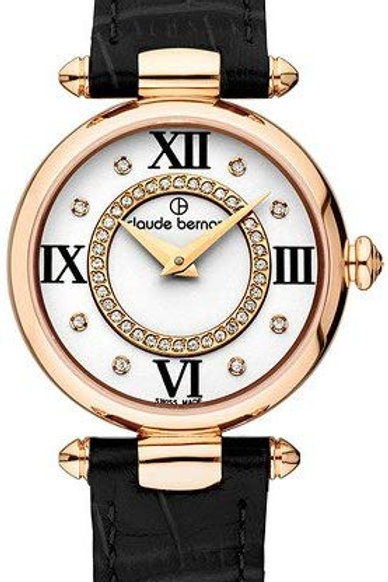 Claude Bernard Dress Code Silver|Pink|Black CB20501-37R-APR1 front view