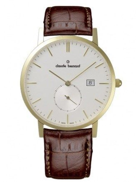 Claude Bernard Classic Small Second Silver|Yellow|Brown CB65003-37J-AID