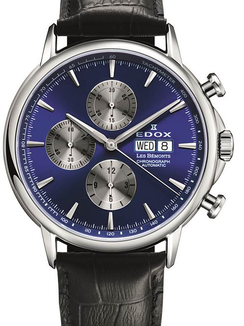EDOX Les Bémonts Chronograph Automatic ED011203BUIN front view