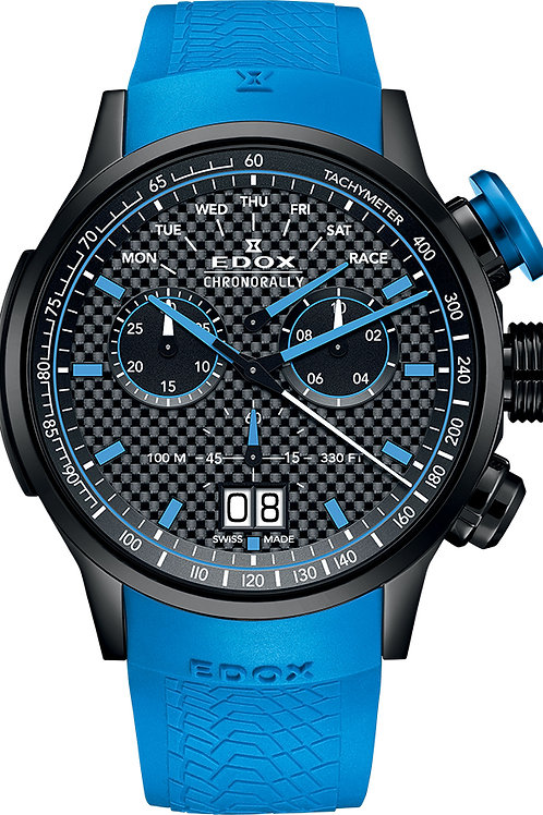 EDOX Chronorally Limited Edition ED38001-TINN1-NIBU1 front view