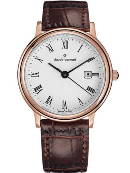 Claude Bernard Classic Gents/Ladies White|Pink|Brown CB54005-37R-BR