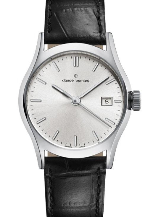 Claude Bernard Classic Gents/Ladies Silver|Silver|Black CB54003-3-AIN