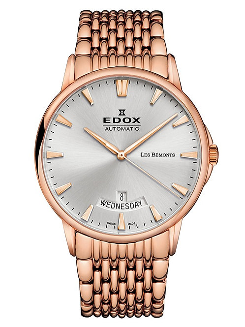 Edox les Bemont Automatic Day and Date ed83015-37RM-BIR front view