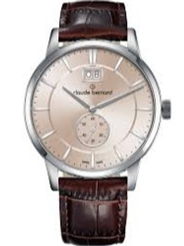 Claude Bernard Classic Big Date Small Second Pink|Silver|Brown CB64005-3-AIN3