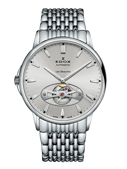 Edox Les Bemont Automatic Open Heart ED85021-3M-AIN front view