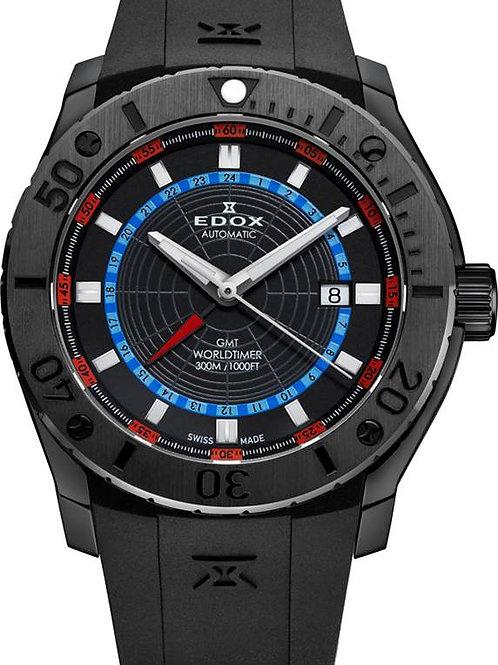 EDOX Class-1 GMT Worldtimer ED9300537NNOBU front view