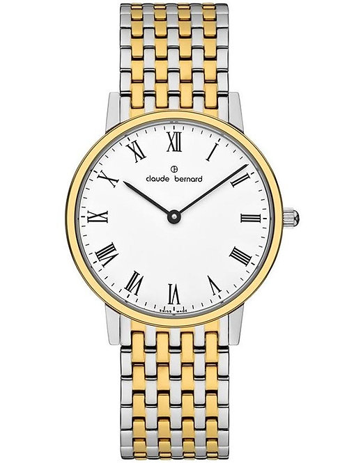 Claude Bernard Classic White|Gold|Gold/Silver CB200 front view