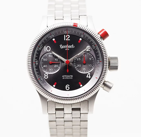 HanHart: Pioneer Red Chronograph- Love on The Red Button