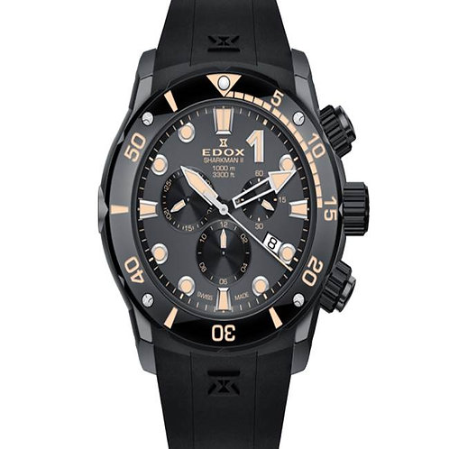 Edox Chrono-Offshore Sharkman 2 Limited Edition ED10234-357GN-NINB front view