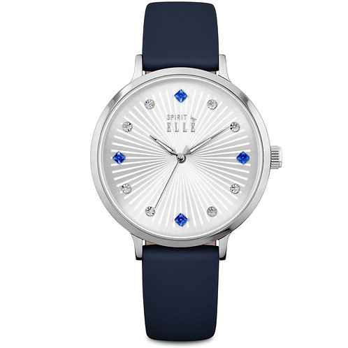 Elle silver dial stone dial and blue strap ES20096S01