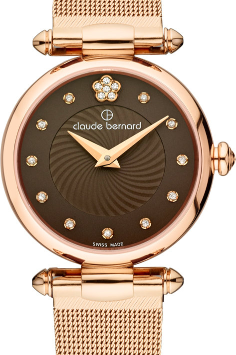 Claude Bernard Dress Code Brown|Pink|Pink CB20500-37R BRPR2 front view
