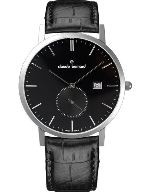 Claude Bernard Classic Small Second Black|Silver|Black CB65003-3-NIN