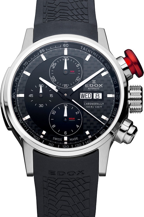Edox Chronorally Automatic Chronograph ED01116-3PR-NIN front view