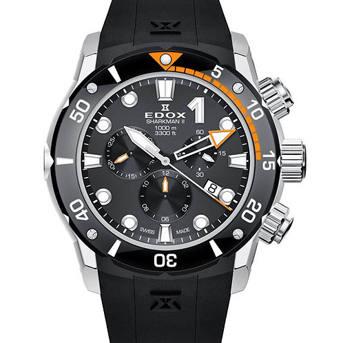EDOX Sharkman II Limited Edition ED102343O NIN front view