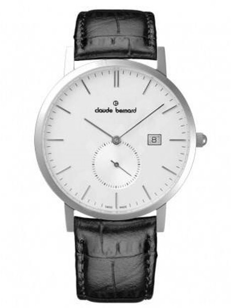Claude Bernard Classic Small Second Silver|Silver|Black CB65003-3-AIN front view