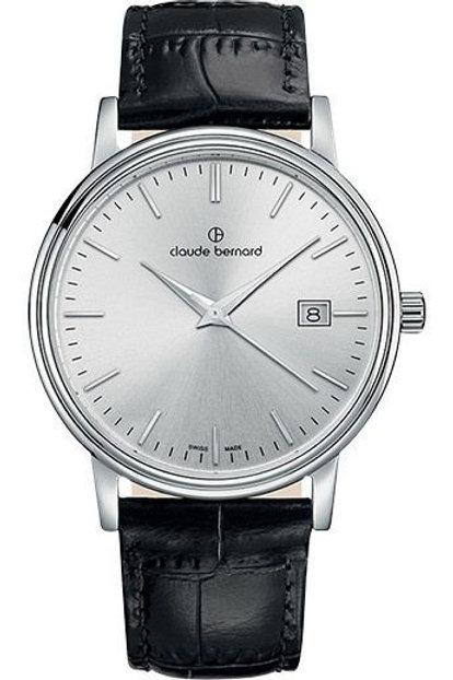 Claude Bernard Classic Gents/Ladies Silver|Silver|Black CB53007-3-AIN