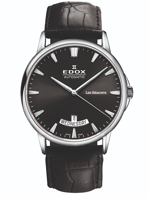 Edox les Bemont Automatic Day and Date ed83015-3-NIN front view