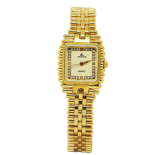 CAMPUS Classic Square Crystal off white/gold CA5575 front view