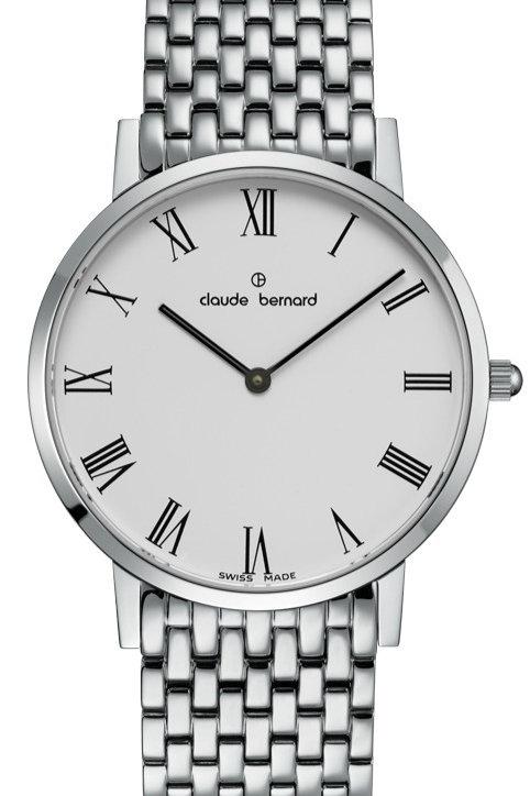 Claude Bernard Classic White|Silver|Silver CB20202-3M-BR