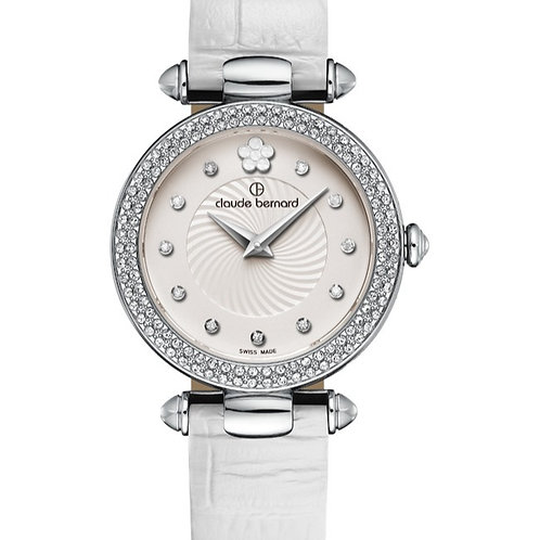 Claude Bernard Dress Code Silver|Silver|White CB20504-3P-APN2 FRONT VIEW
