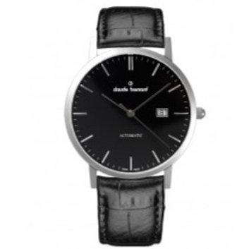 Claude Bernard Classic Automatic Date Black|Silver|Black CB80095-3-NIN front view
