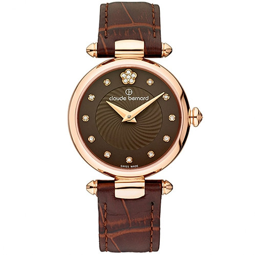 Claude Bernard Dress Code Brown|Pink|Brown CB20501-37R-BRPR2 front view