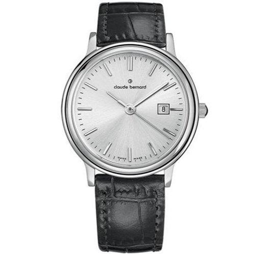 Claude Bernard Classic Gents/Ladies Silver|Silver|Black CB54005-3-AIN
