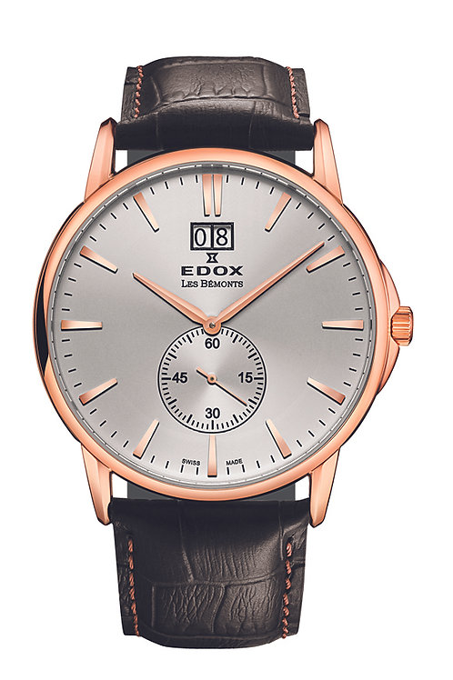 Edox Les Bemont Small seconds ED64012-37R-AIR front view